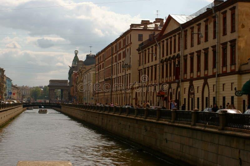 Canal de St Petersburg image stock