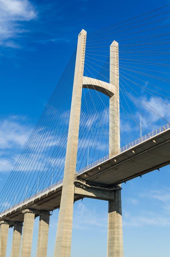 Canal de Suez, Egypte 5 novembre 2017 : Le pont en canal de Suez photos stock