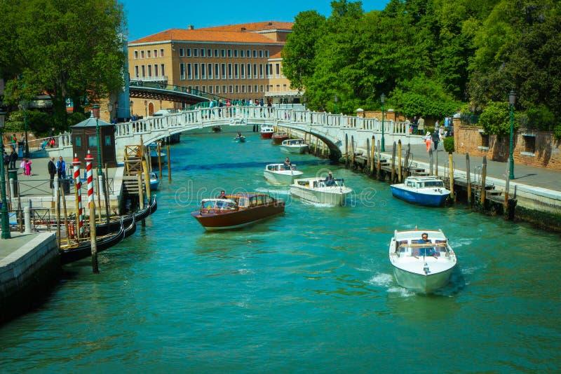 Canal de Venezia image stock