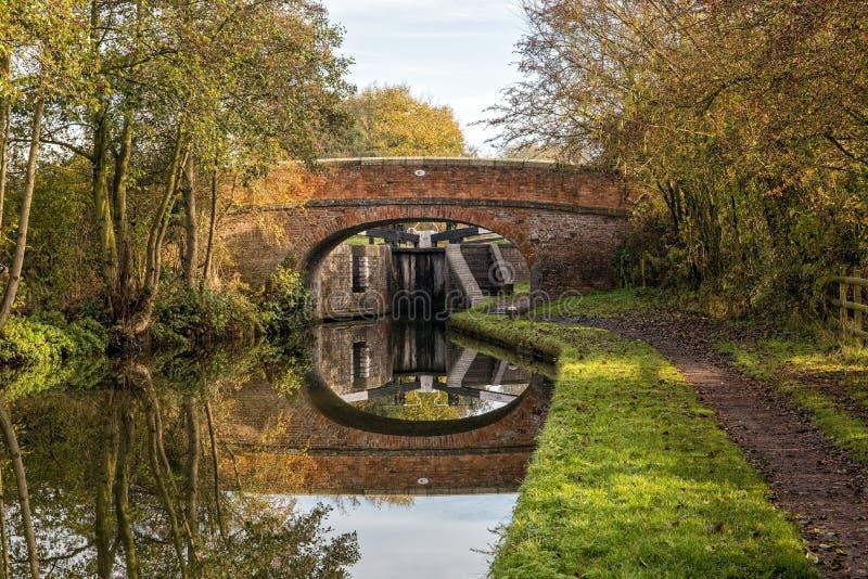 Canal de Worcester et de Birmingham, Angleterre photos libres de droits