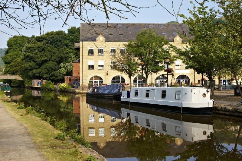 Canal del puente de Hebden imágenes de archivo libres de regalías