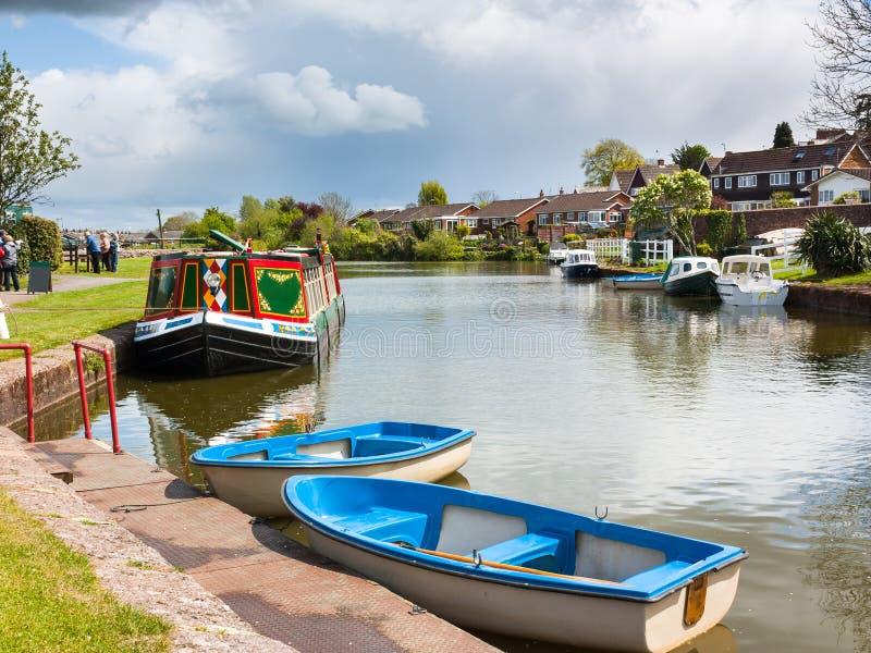 Canal Devon de Tiverton imagem de stock royalty free