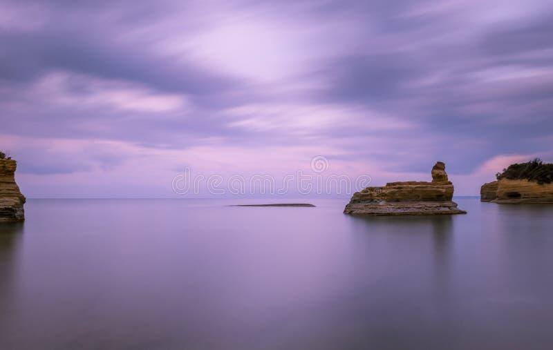Canal do amourthe do ` do canal D de amor em Corfu Grécia foto de stock royalty free