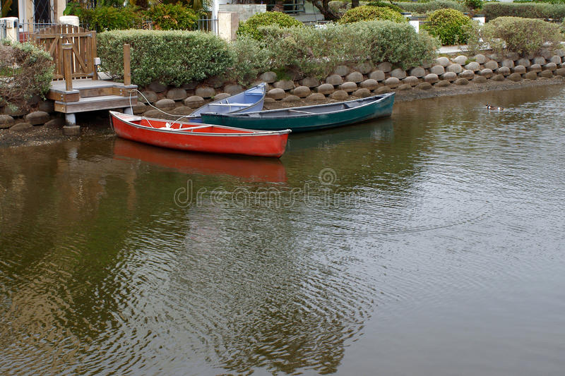 Download Canal Docked Boats stock image. Image of green, stone - 37278321