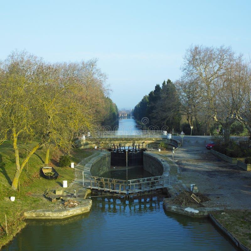 Canal du Midi images libres de droits