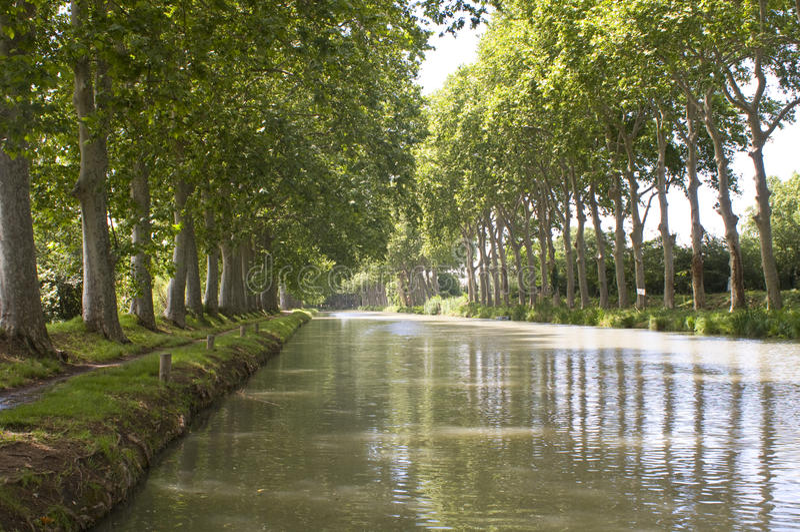 Canal du Midi photo stock