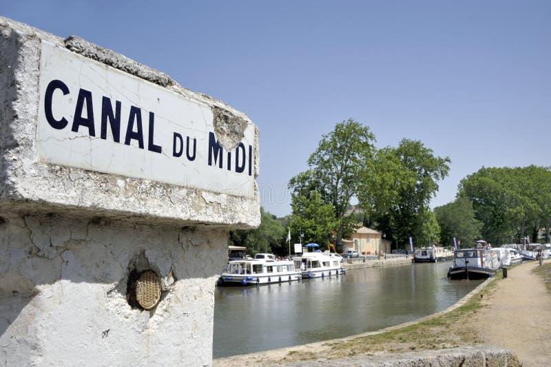 canal du Midi photographie stock