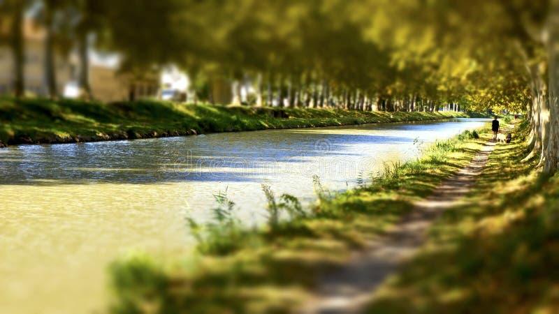 Canal du Midi fotos de stock
