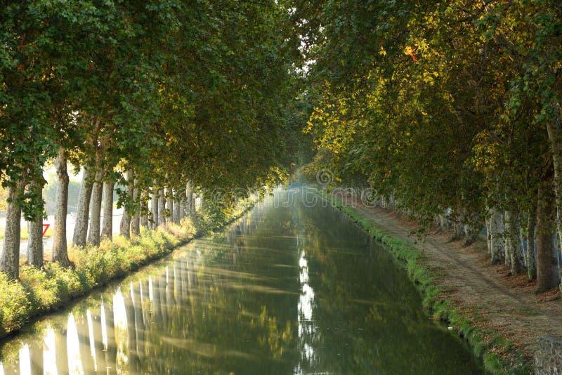 Canal du Midi en France méridionale image stock