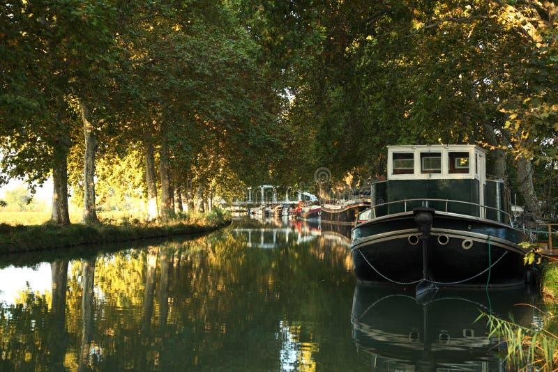 Canal du Midi, France méridionale image stock