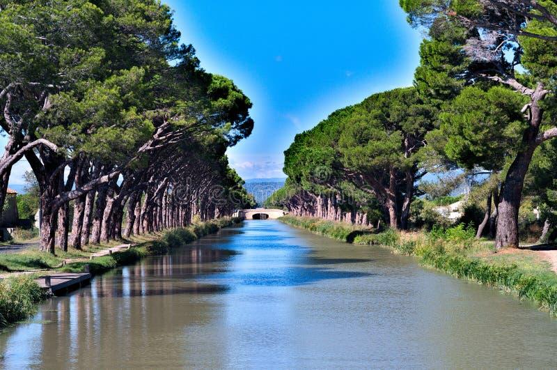 Canal du Midi, Francia foto de archivo libre de regalías