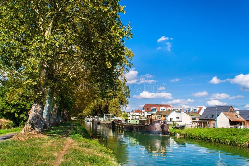 Canal du Rhin d'â du Rhône images libres de droits