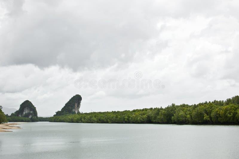 Canal e porto dos manguezais foto de stock royalty free
