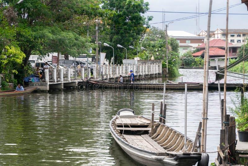 Canal em Banguecoque imagens de stock royalty free