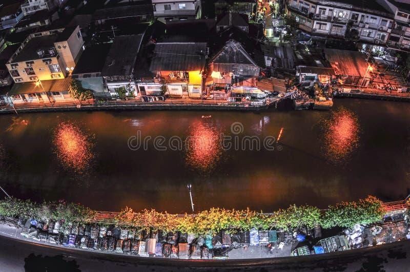 Canal em Banguecoque fotos de stock royalty free