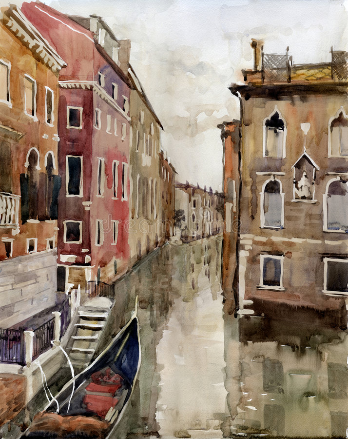 Canal em Veneza ilustração do vetor