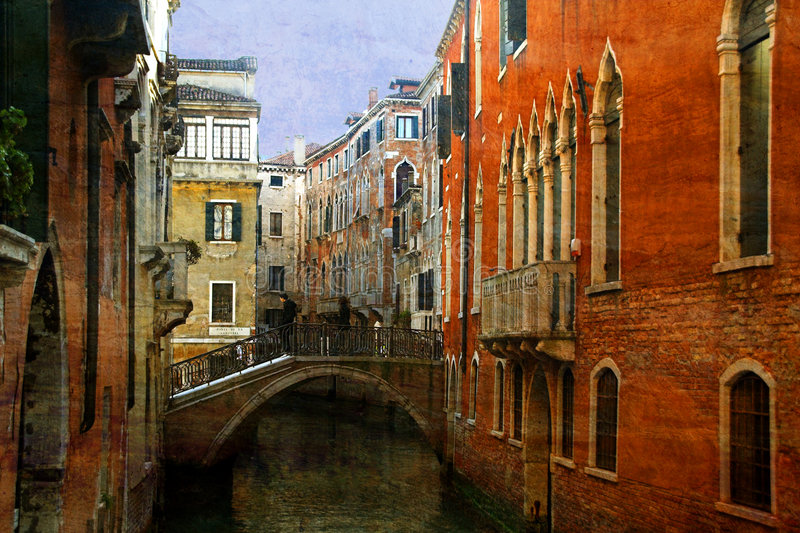 Canal em Veneza, Italy fotos de stock