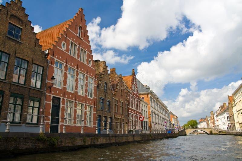 Canal en Brujas, Bélgica imágenes de archivo libres de regalías