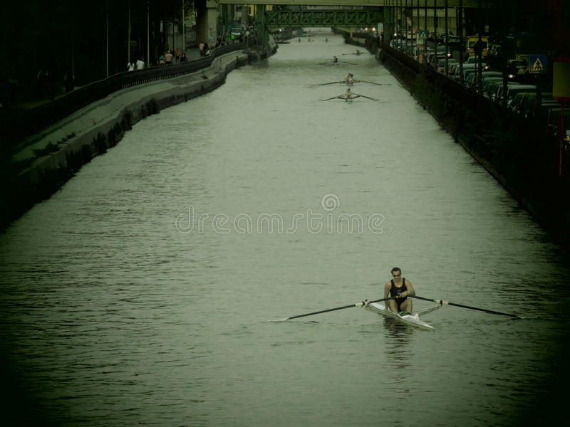 Canal en Milano fotografía de archivo libre de regalías