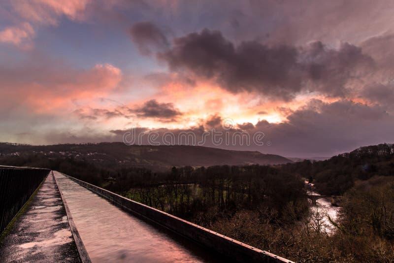 Canal en País de Gales Llangollen imagen de archivo