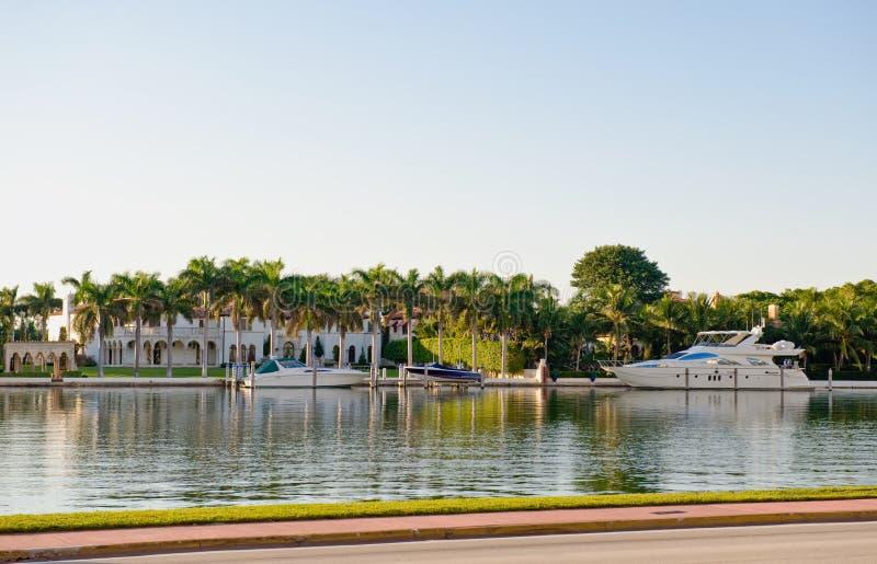 Canal Florida de Miami fotografia de stock royalty free