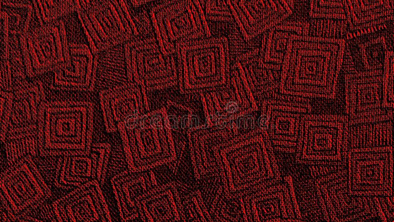 Canal Geométrico Rojo Art Banner De YouTube Del Modelo Imagen de ...