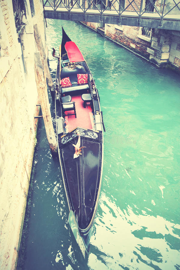 Canal with gondola in Venice royalty free stock photos