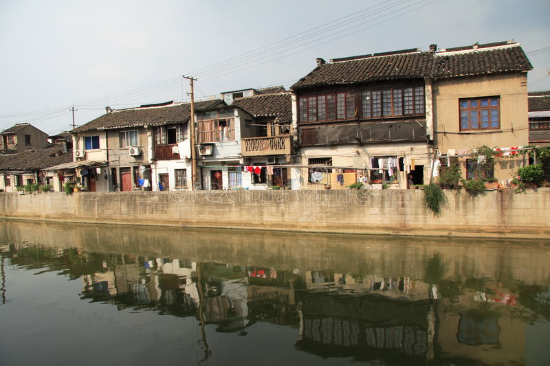Canal grand en Chine photographie stock