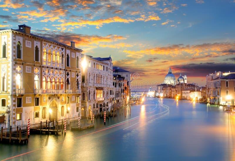 Canal Grande with Basilica di Santa Maria della Salute in Venice royalty free stock photo