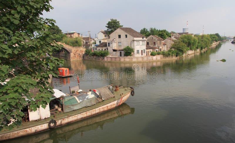 Canal grande em China imagem de stock royalty free