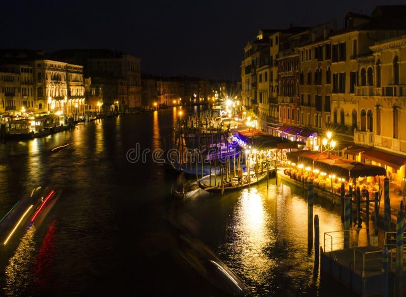 Canal grande em a noite, Veneza imagens de stock