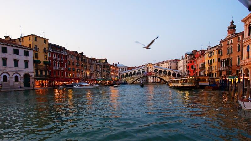 Canal grande em Veneza fotografia de stock