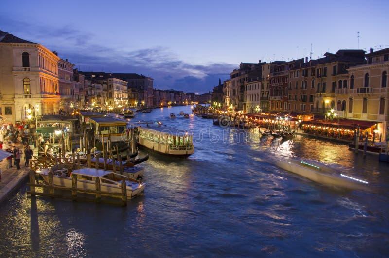 Canal grande em Veneza, Itália fotos de stock