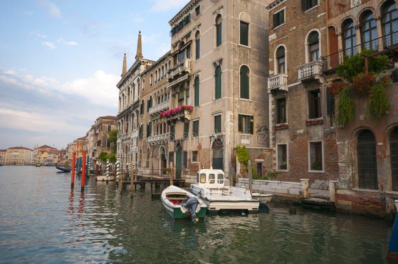 Canal grande em Veneza, Itália imagem de stock