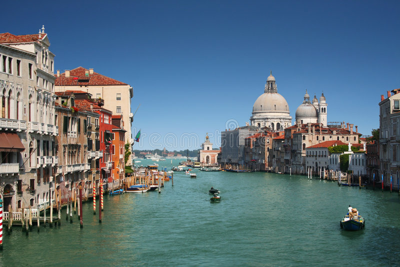 Canal grande em Veneza, Italy fotos de stock