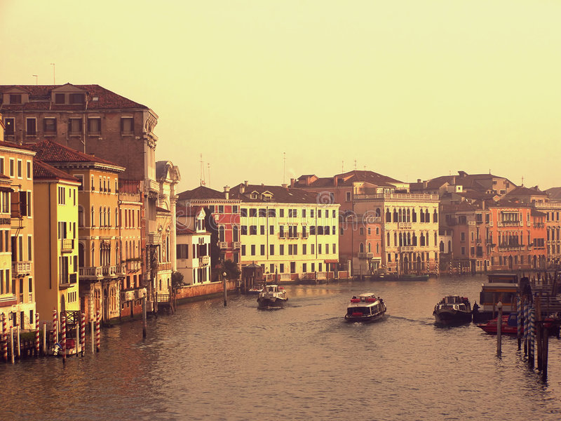 Download Canal Grande Palaces In Venice Stock Image - Image: 4058993
