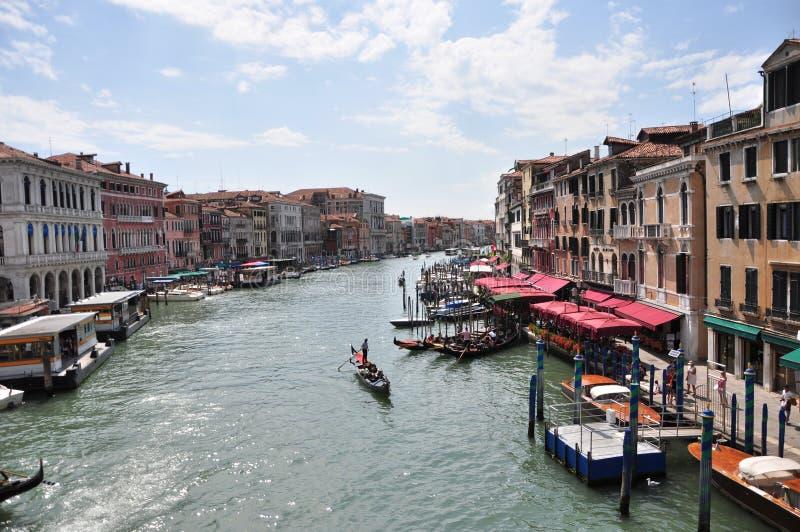 Canal grande - Venecia, Italia fotografía de archivo