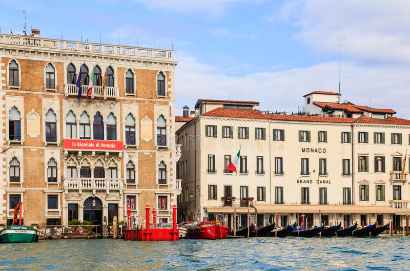 Canal grande Veneza Italy fotografia de stock