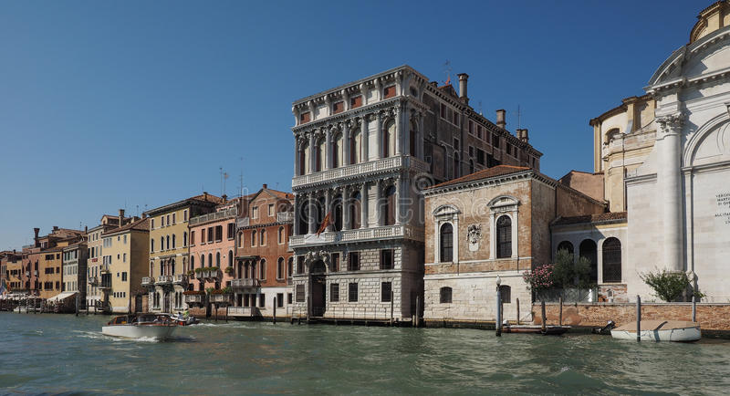 Canal Grande in Venice. VENICE, ITALY - CIRCA SEPTEMBER 2016: The Canal Grande meaning Grand Canal stock photo