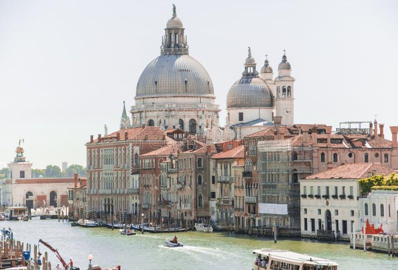 Canal Grande von Venedig-panoram foto, Italien lizenzfreie stockbilder