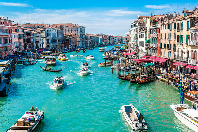 Canal grandioso - Veneza, Italy fotos de stock royalty free