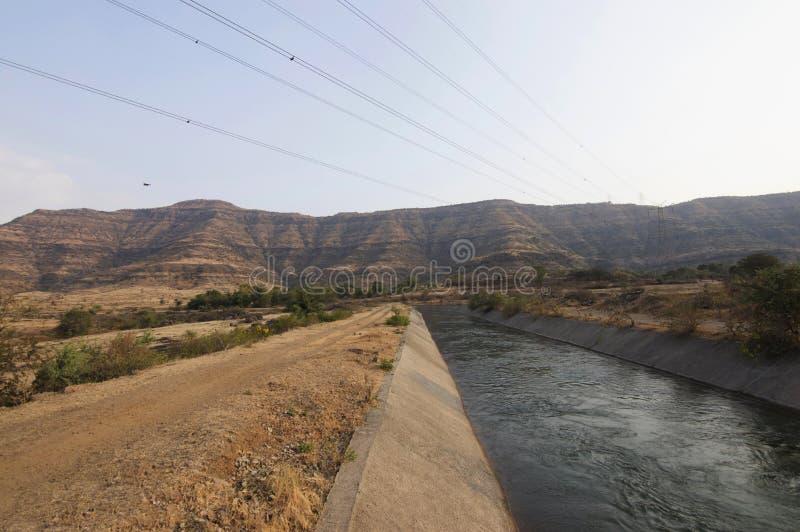 Canal of Harali, Satara, Maharashtra, India. Canal of Harali at Satara in Maharashtra, India royalty free stock photos