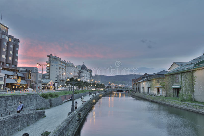 canal historique d'Otaru, Hokkaido, Japon photographie stock libre de droits