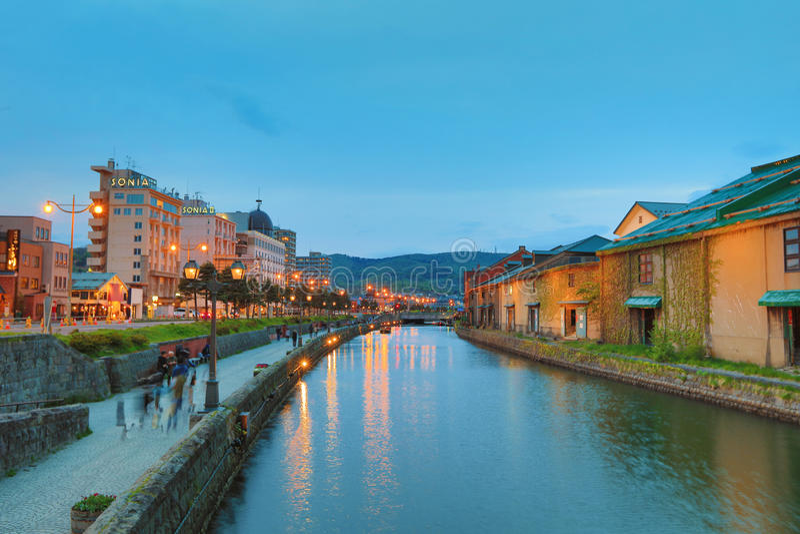 canal historique d'Otaru, Hokkaido, Japon photos libres de droits