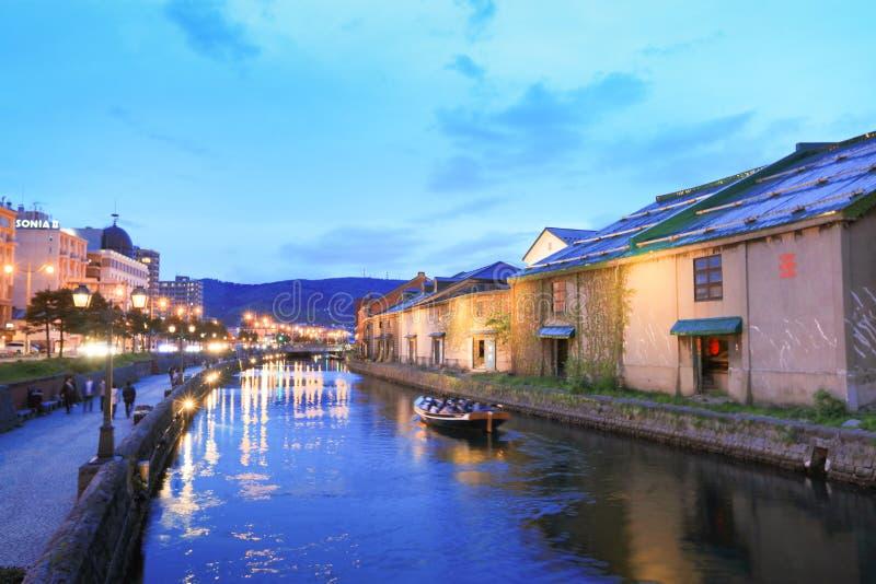 canal historique d'Otaru, Hokkaido, Japon photo stock