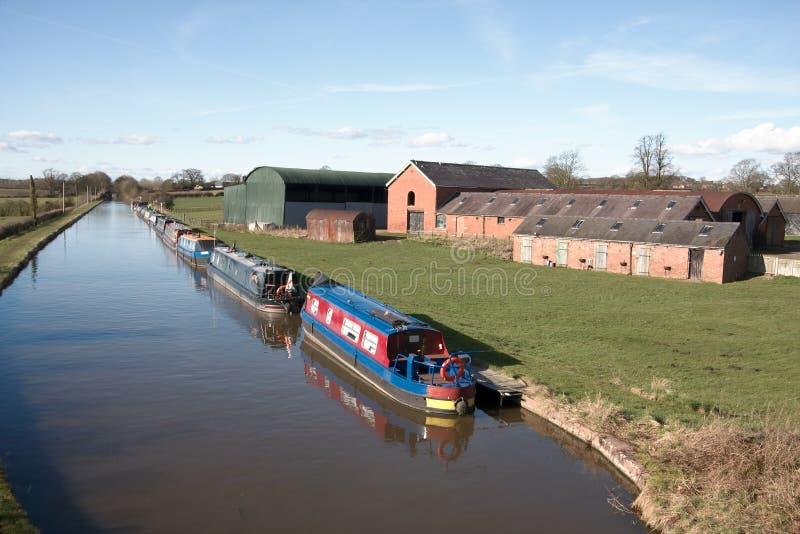 Canal House Narrow Boats royalty free stock photos