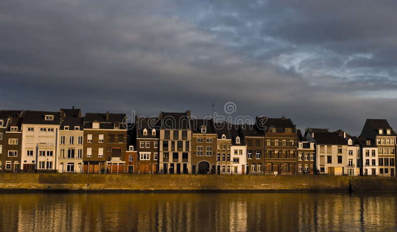 Canal Houses royalty free stock photos
