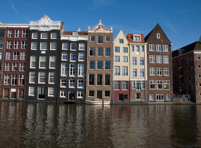 Canal houses, Amsterdam stock photography