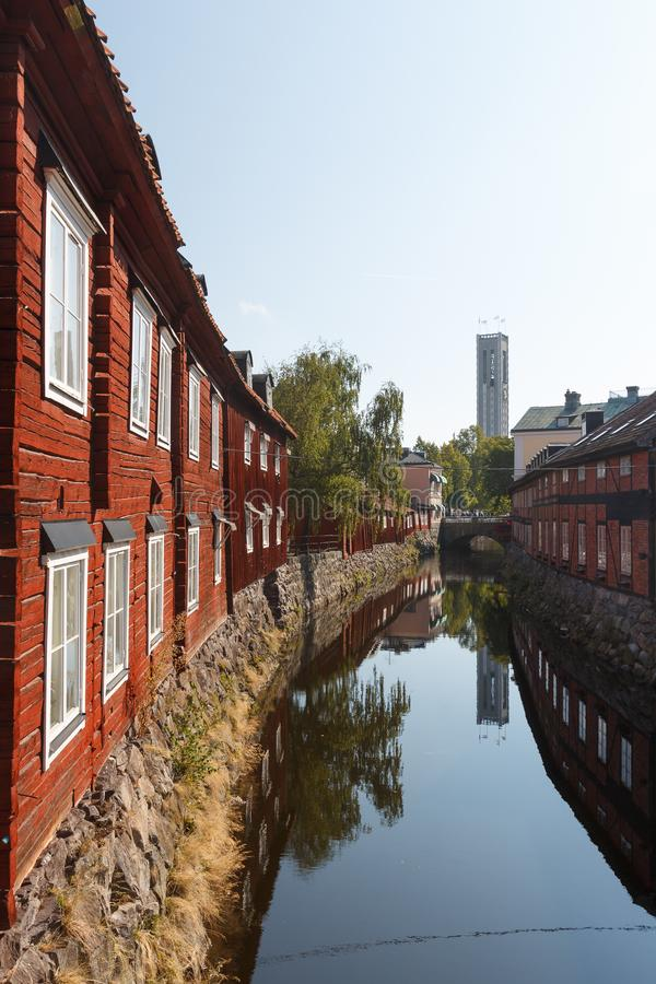 Free Canal In The Old Town Of Vasteras Royalty Free Stock Photography - 102794497