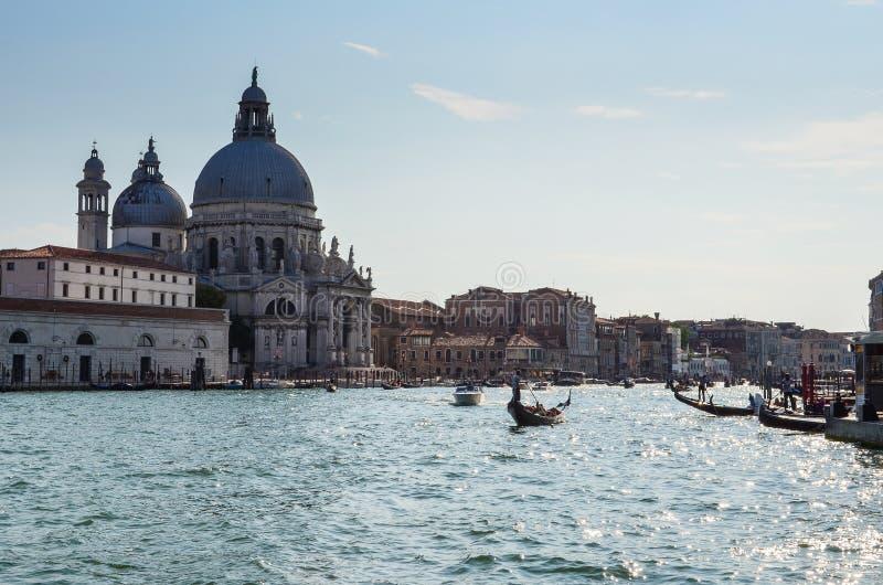 Canal Itália do gran de Veneza foto de stock